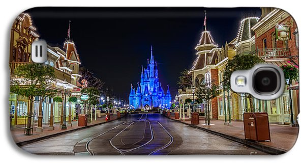 Cinderella Castle Glow Over Main Street Usa Galaxy S4 Case