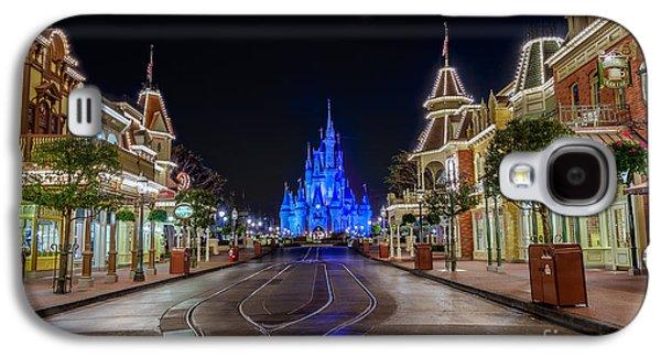 Cinderella Castle Glow Over Main Street Usa Galaxy S4 Case