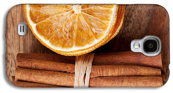Cinnamon And Orange Galaxy S4 Case by Nailia Schwarz