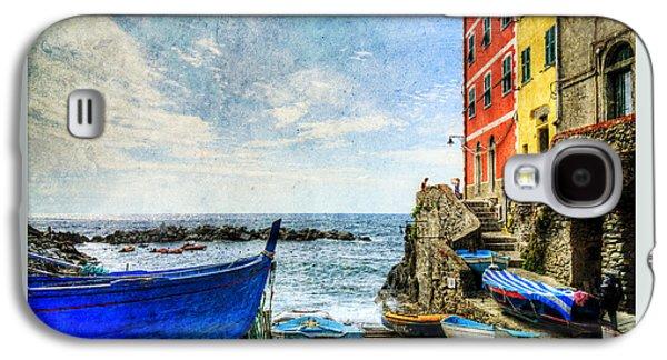 Cinque Terre - Little Port Of Riomaggiore - Vintage Version Galaxy S4 Case