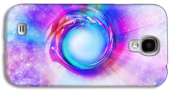 Multicolored Digital Galaxy S4 Cases - Circle Eye  Galaxy S4 Case by Setsiri Silapasuwanchai