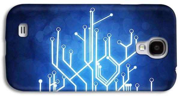 Abstract Galaxy S4 Case - Circuit Board Technology by Setsiri Silapasuwanchai