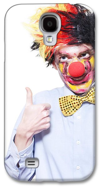 Circus Clown With Thumb Up To Carnival Advertising Galaxy S4 Case by Jorgo Photography - Wall Art Gallery