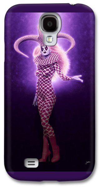 Circus Of Horrors - Purple Jester Woman Galaxy S4 Case