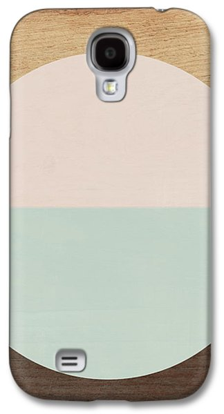 Peach Galaxy S4 Case - Cirkel In Peach And Mint- Art By Linda Woods by Linda Woods