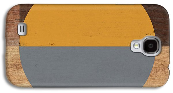 Cirkel Yellow And Grey- Art By Linda Woods Galaxy S4 Case by Linda Woods