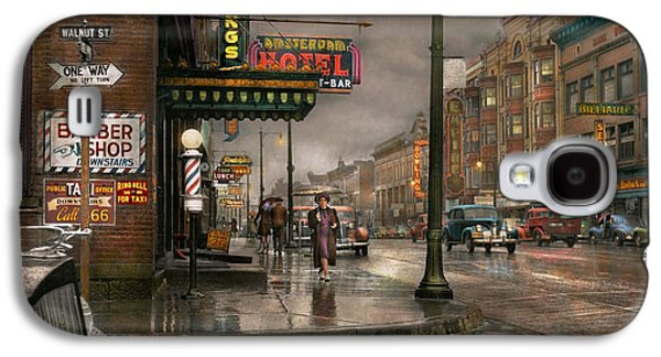 City - Amsterdam Ny -  Call 666 For Taxi 1941 Galaxy S4 Case by Mike Savad