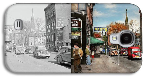 City - Amsterdam Ny - Downtown Amsterdam 1941- Side By Side Galaxy S4 Case