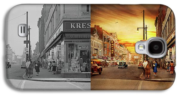 City - Amsterdam Ny - The Lost City 1941 - Side By Side Galaxy S4 Case by Mike Savad