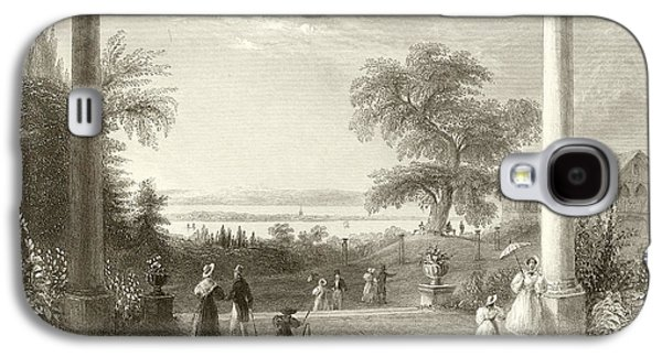 City And Lake Of Constance From The Chateau Wolfsberg Galaxy S4 Case by William Henry Bartlett