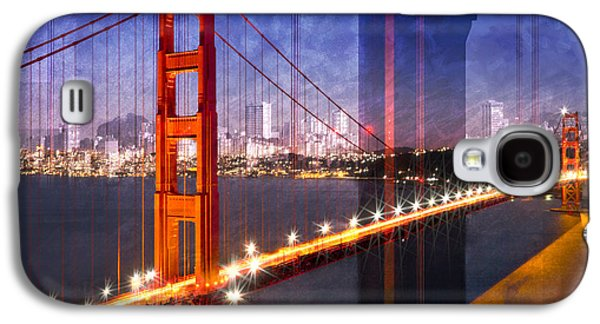 City Art Golden Gate Bridge Composing Galaxy S4 Case