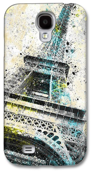 City-art Paris Eiffel Tower Iv Galaxy S4 Case by Melanie Viola