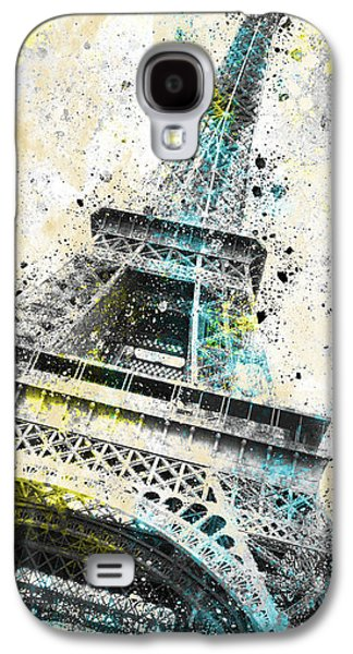 City-art Paris Eiffel Tower Iv Galaxy S4 Case by Melanie Viola