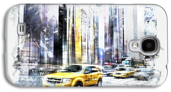 City-art Times Square II Galaxy S4 Case by Melanie Viola