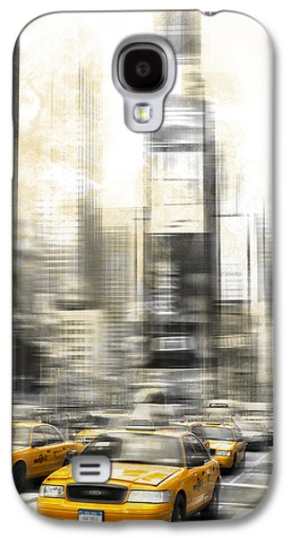 City-art Times Square Galaxy S4 Case by Melanie Viola