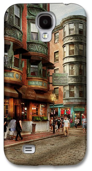 City - Boston Ma - The North Square Galaxy S4 Case by Mike Savad