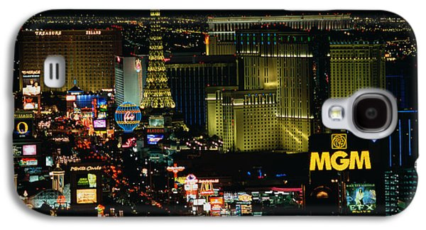 City Lit Up At Night, The Strip, Las Galaxy S4 Case by Panoramic Images