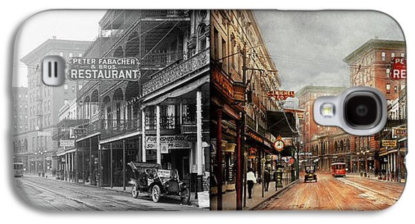 City - New Orleans - A Look At St Charles Ave 1910 - Side By Side Galaxy S4 Case by Mike Savad