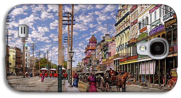 City - New Orleans - New Orleans The Victorian Era 1887 Galaxy S4 Case by Mike Savad