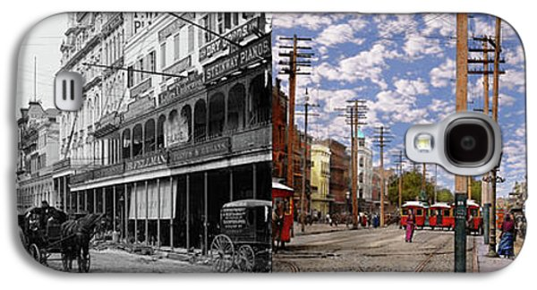 City - New Orleans - New Orleans The Victorian Era 1887 - Side By Side Galaxy S4 Case by Mike Savad