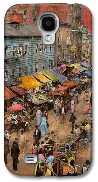 City - Ny - Jewish Market On The East Side 1890 Galaxy S4 Case by Mike Savad