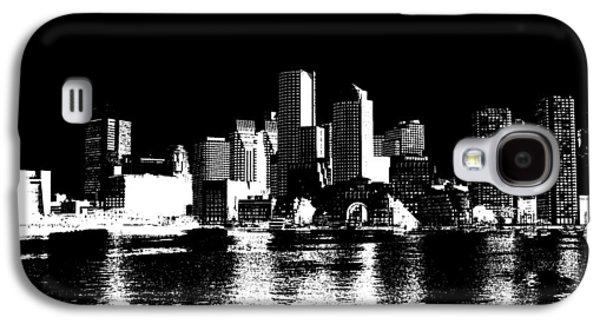 City Of Boston Skyline   Galaxy S4 Case