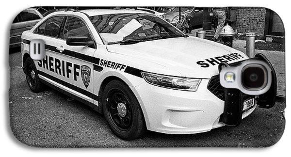 city of new york sheriff department ford police interceptor cruiser vehicle New York City USA Galaxy S4 Case