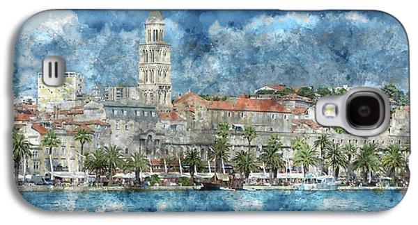 City Of Split In Croatia With Birds Flying In The Sky Galaxy S4 Case