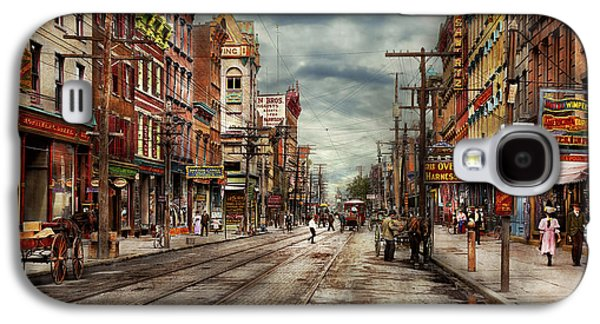City - Poughkeepsie Ny - The Ever Changing Market Place 1906 Galaxy S4 Case by Mike Savad