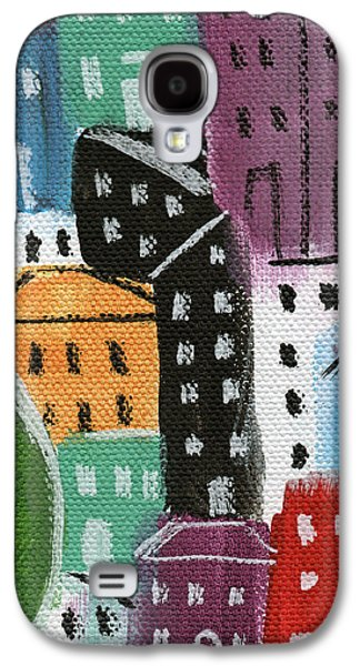 City Stories- By The Park Galaxy S4 Case by Linda Woods