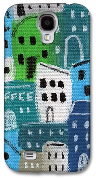 City Stories- Coffee Shop Galaxy S4 Case by Linda Woods