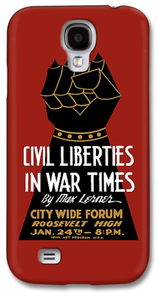 Civil Liberties In War Times - Wpa Galaxy S4 Case