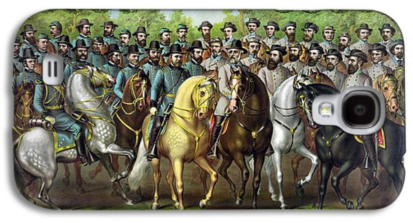Civil War Generals And Statesman With Names Galaxy S4 Case by War Is Hell Store