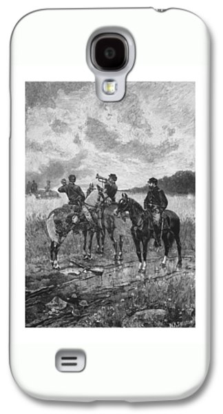 Civil War Soldiers On Horseback Galaxy S4 Case by War Is Hell Store
