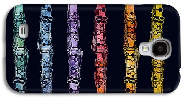 Wind Galaxy S4 Cases - Clarinet Rainbow Galaxy S4 Case by Jenny Armitage