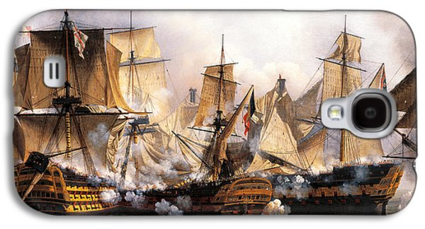 Clash Between English Temeraire And French Redoubtable Ships During Battle Of Trafalgar Galaxy S4 Case by Unknown