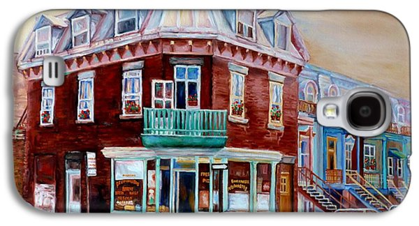 Classic Montreal Storefront Painting Peloponissos Pizza Bakery Neighborhood Memories Canadian Art  Galaxy S4 Case