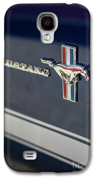 Classic Mustang Logo Closeup Galaxy S4 Case by Mike Reid
