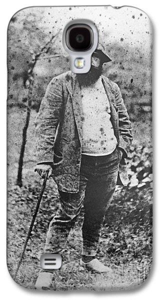 Claude Monet In His Garden Galaxy S4 Case by Theodore Robinson