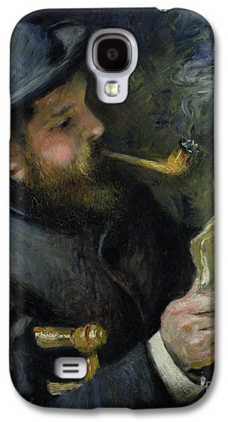 Chair Galaxy S4 Cases - Claude Monet reading a newspaper Galaxy S4 Case by Pierre Auguste Renoir