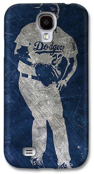 Clayton Kershaw Los Angeles Dodgers Art Galaxy S4 Case by Joe Hamilton