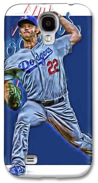 Clayton Kershaw Los Angeles Dodgers Oil Art Galaxy S4 Case