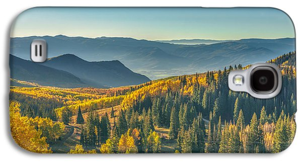 Autumn Foliage Photographs Galaxy S4 Cases - Clear Sky Autumn Morning In Utah Galaxy S4 Case by James Udall