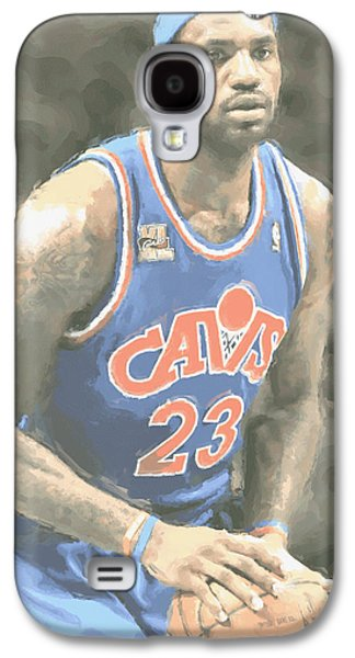 Cleveland Cavaliers Lebron James 1 Galaxy S4 Case by Joe Hamilton