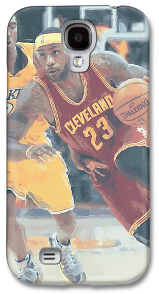 Cleveland Cavaliers Lebron James 3 Galaxy S4 Case by Joe Hamilton