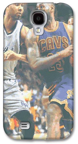 Cleveland Cavaliers Lebron James 4 Galaxy S4 Case by Joe Hamilton