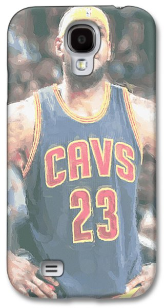 Cleveland Cavaliers Lebron James 5 Galaxy S4 Case by Joe Hamilton