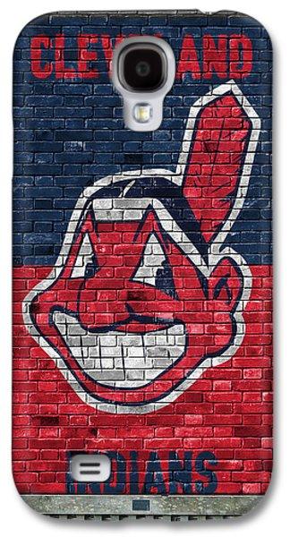 Cleveland Indians Brick Wall Galaxy S4 Case by Joe Hamilton