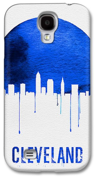 Cleveland Skyline Blue Galaxy S4 Case by Naxart Studio