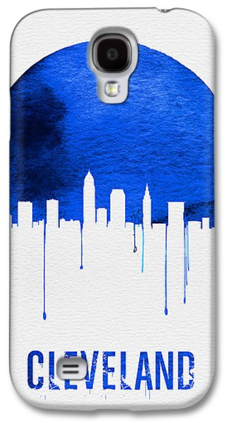 Cleveland Skyline Blue Galaxy S4 Case by Naxart Studio